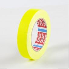 tesa 4671-25mx19mm Bandă textilă laminata cu pasta acrilica. Culoare galben